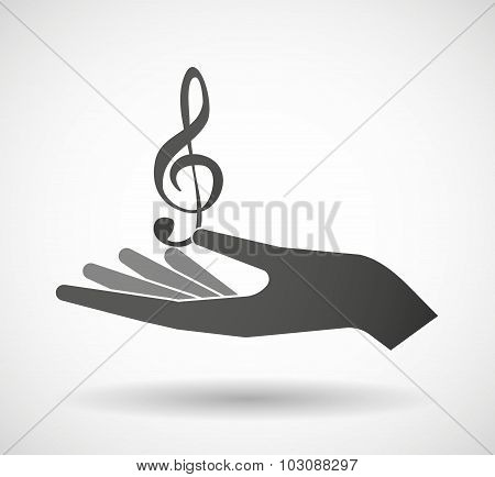 Isolated Hand Giving A G Clef