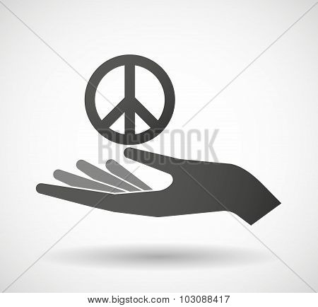 Isolated Hand Giving A Peace Sign