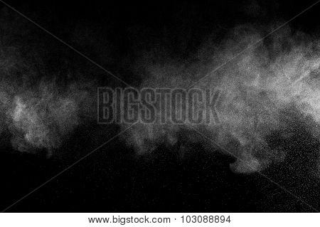 abstract white powder explosion