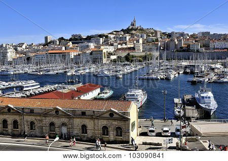 The Famous Old Port Of Marseille