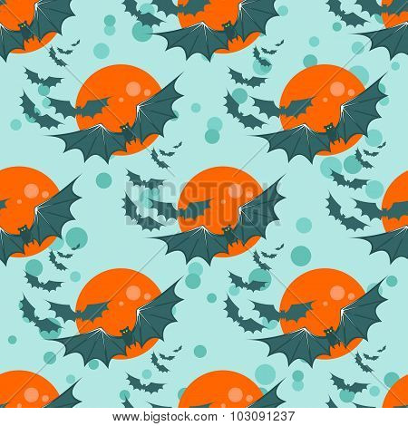bats seamless pattern
