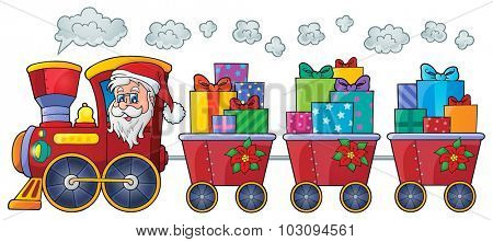 Christmas train theme image 4 - eps10 vector illustration.