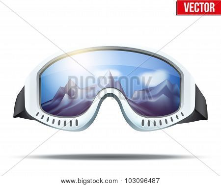 Classic vintage old school ski goggles
