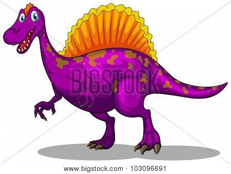 Purple dinosaur with sharp claws illustration
