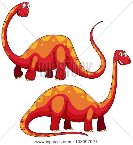 Brachiosaurus left and right view illustration