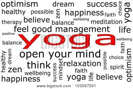 Yoga Wordcloud