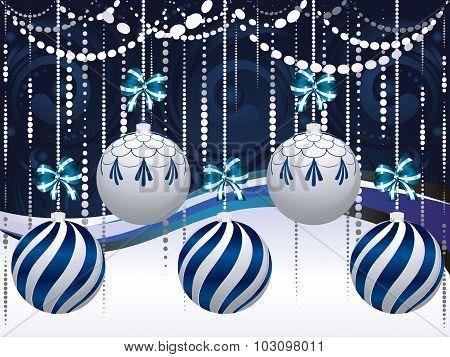 Blue And White Xmas Balls