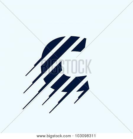 C Letter Logo Design Template.