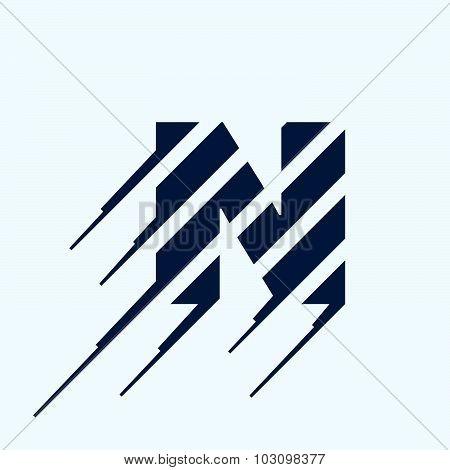 N Letter Logo Design Template.