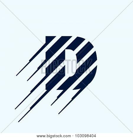 D Letter Logo Design Template.
