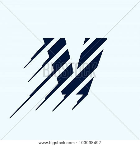 V Letter Logo Design Template.