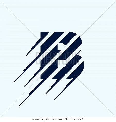 B Letter Logo Design Template.