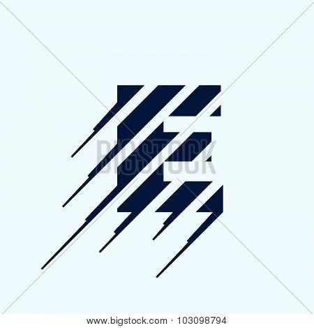 E Letter Logo Design Template.