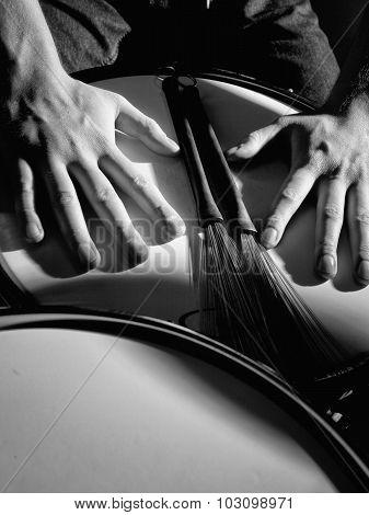 jazz band drummer