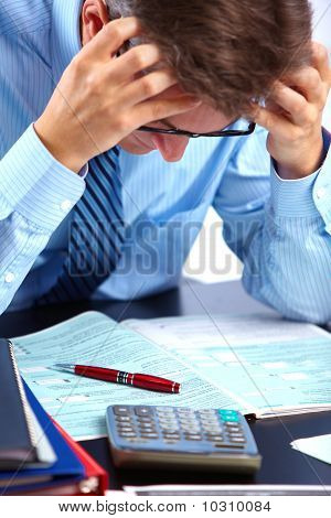 Businessman  Having Stress