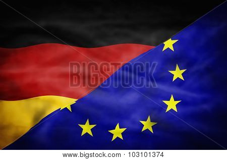 Germany and European Union mixed flag.