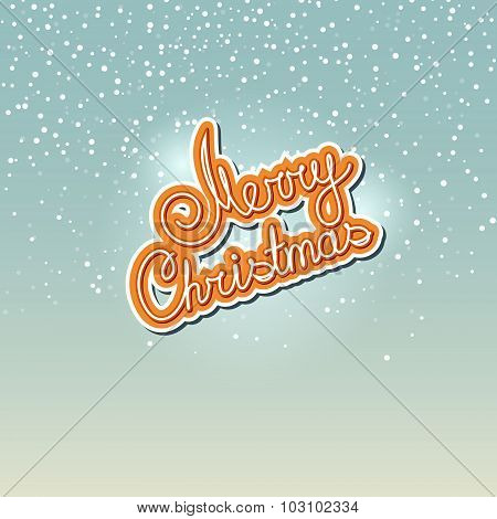 Winter Background with the Words Merry Christmas