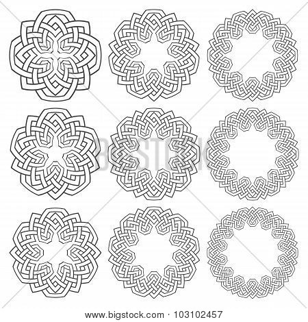 Set of circular patterns.