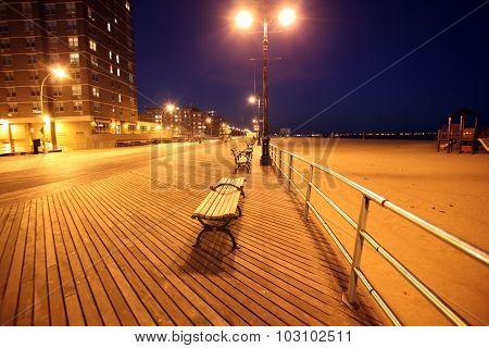 Brighton Beach Of Coney Island, New York, Usa