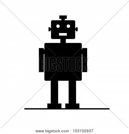 Robot Vector Silhouette