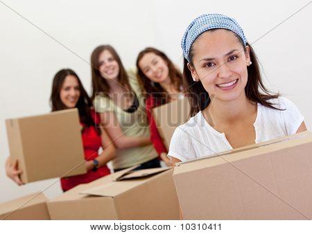 Girls Moving