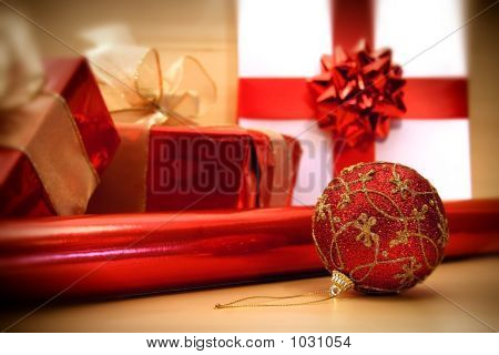 Red Christmas Wrappings/ Soft Focus Filter