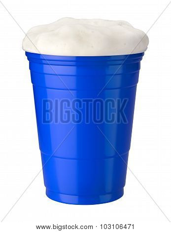 Beer In A Blue Plastic Cup
