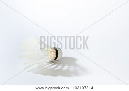 White shuttlecock
