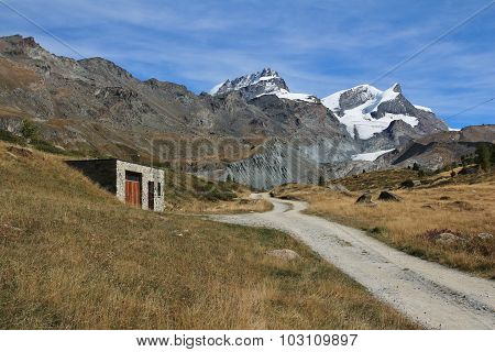 Mountain Landscape In Zermatt