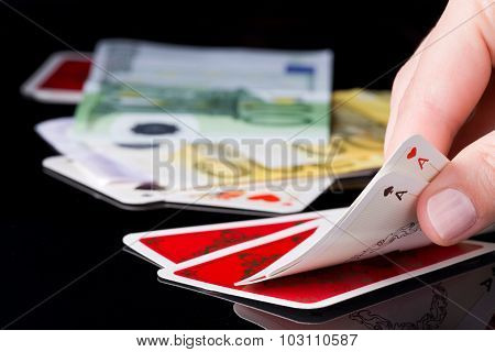 Gambling Cards And Money