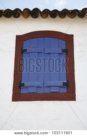 Window Colonial Town In Brazil