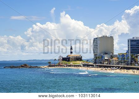 Barra Beach In Salvador, Bahia, Brazil