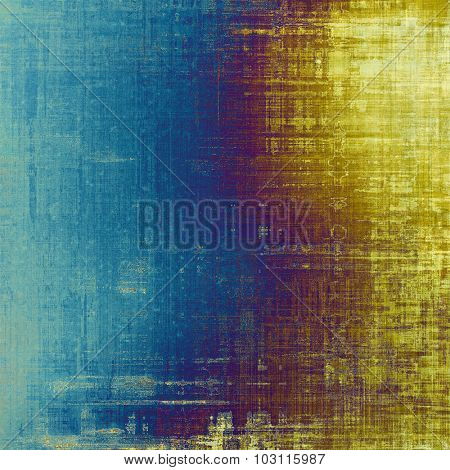 Grunge old-fashioned background with space for text or image. With different color patterns: yellow (beige); purple (violet); blue; cyan