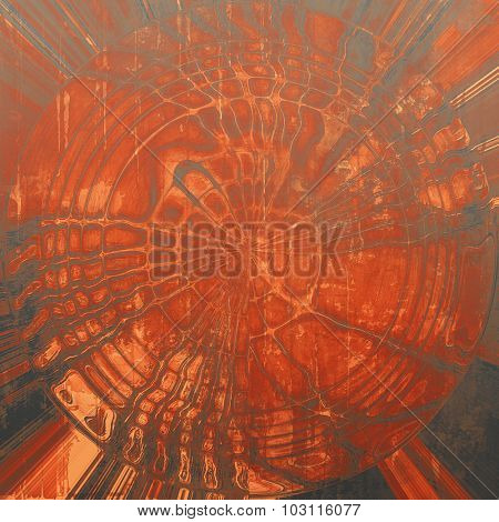 Old ancient texture, may be used as abstract grunge background. With different color patterns: yellow (beige); red (orange); gray; black