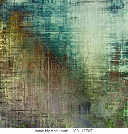 Computer designed highly detailed vintage texture or background. With different color patterns: brown; green; blue; gray