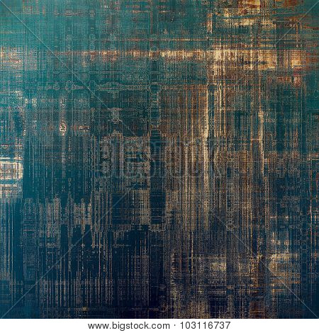 Grunge retro vintage textured background. With different color patterns: yellow (beige); brown; blue; black
