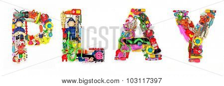the Word Play made from lots of small toys