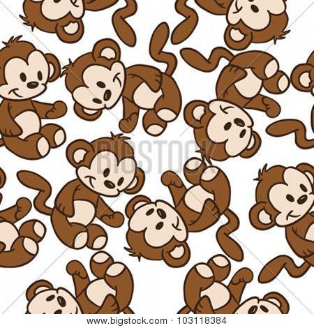 monkey seamless pattern