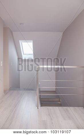 Light Corridor With Stairs