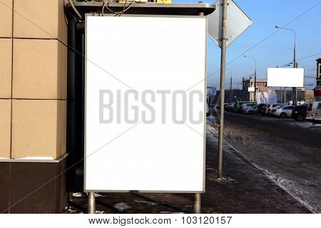 For Advertisers To Place Ad Copy Samples On A Bus Shelter In City