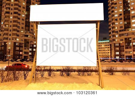 For Advertisers To Place Ad Copy Samples On A Bus Shelter In Evening City