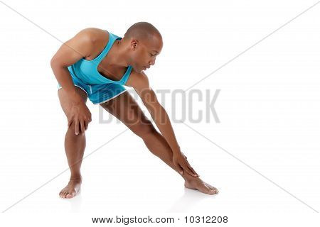 Young  Attractive African American Man Athlete