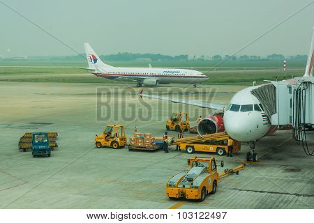 Airasia Planes At Tan Son Nhat International Airport.