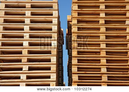 Wooden Palets Up To Sky