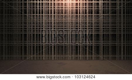 Abstract Outline Cross Wall Background With Ground
