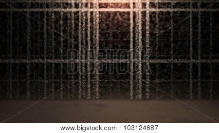 Abstract Outline Door Background With Ground