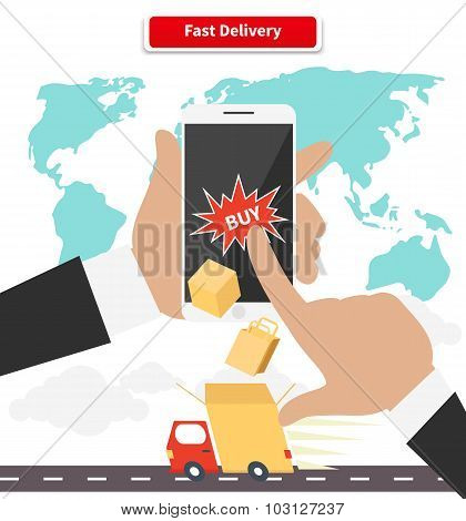 Buying and Fast Delivery by Smartphone