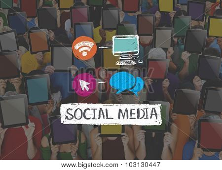 Social Media Networking Connection Marketing Concept