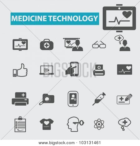medicine technology icons