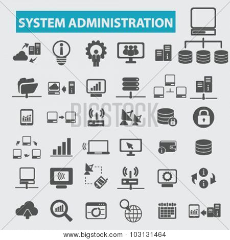 system administration icons